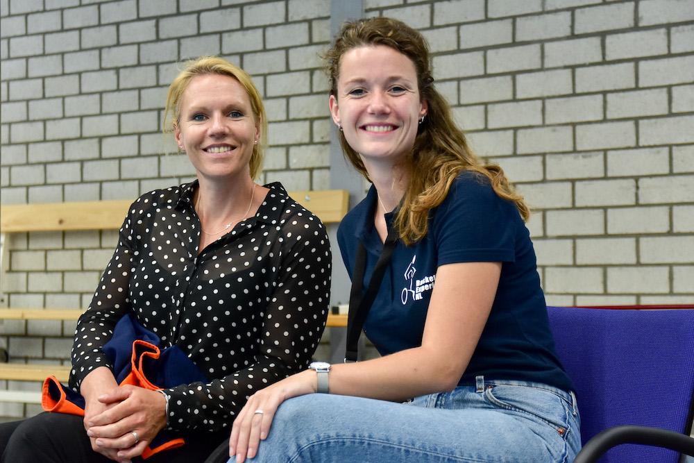 Roos en Esther Vergeer tijdens EK Side-event